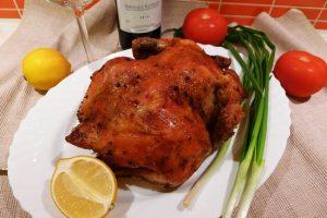 Курица в духовке с корочкой на соли
