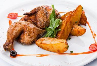 Курица табака в духовке: рецепты (в рукаве, с картошкой)