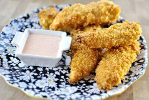 Курица в чипсах в духовке (с сыром)