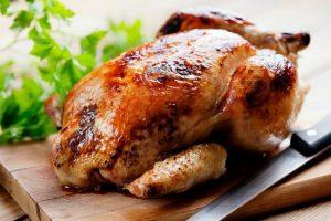 Курица-гриль на бутылке в духовке