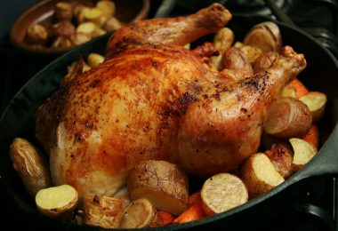 Маринад для целой курицы в духовке (с чесноком, медовый)