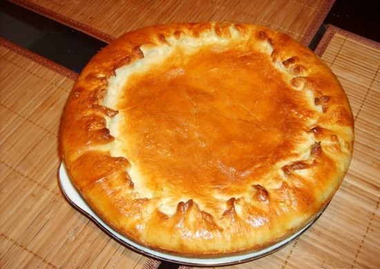 пирог из полуфабрикатного теста