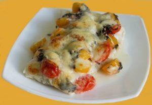 Тунец, запеченный с сыром