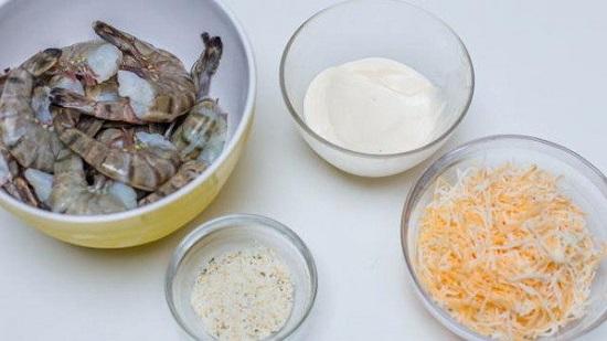 креветки с сыром в духовке