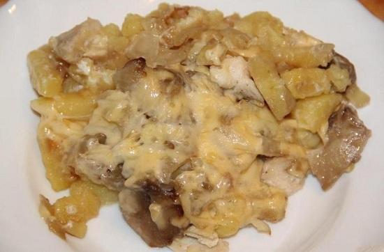 Что приготовить из курицы, шампиньонов и картошки