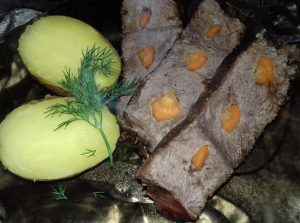 Мраморная говядина в духовке в рукаве