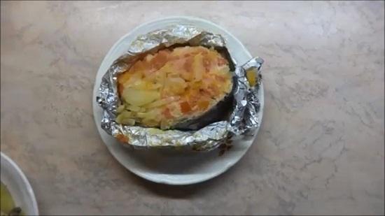 Семга в фольге с овощами: рецепт простой
