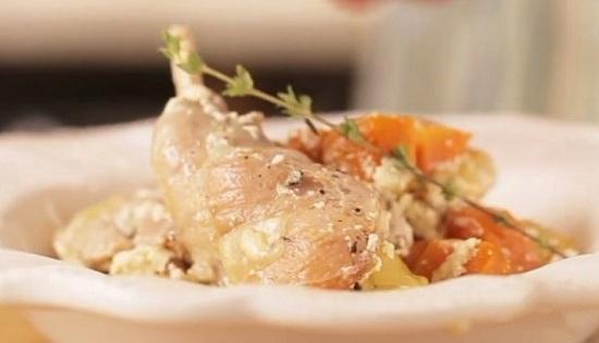 мясо кроля в сливочном соусе