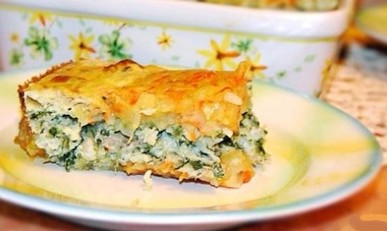Запеканка из рыбы с овощами в духовке с горошком зеленым