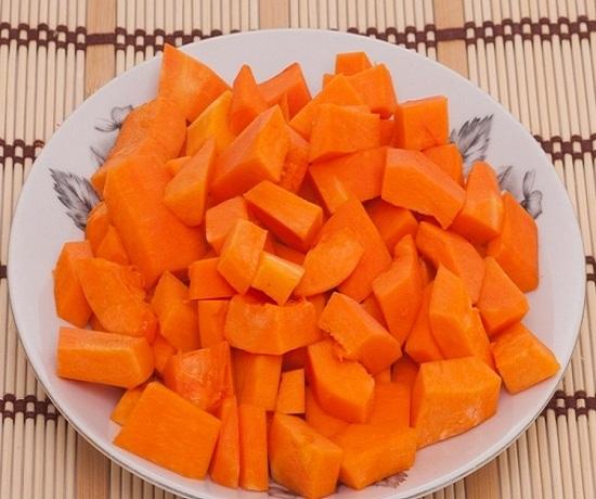 Мякоть «солнечного» овоща и яблочек