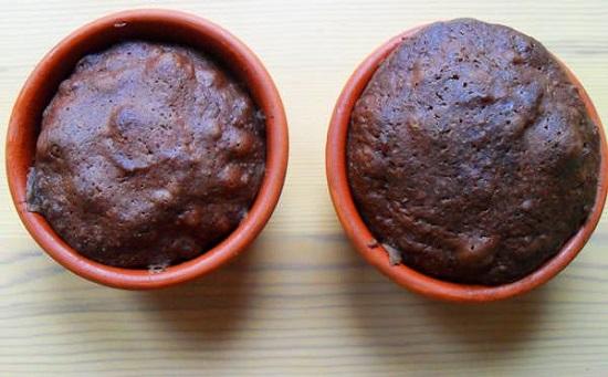 шоколадные кексы в духовке в формочках
