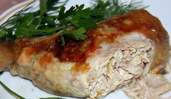 Окорочка с начинкой из свинины