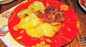 Свиная вырезка с картошкой в духовке