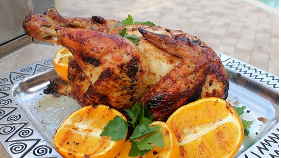 Курица в духовке целиком на пиве