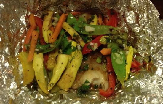 свиные антрекоты в духовке в фольге с овощами