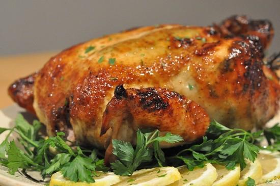 курица в духовке с медом и чесноком