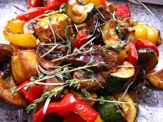 овощи-гриль в духовке на противне