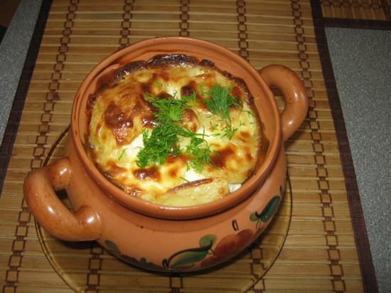 пельмени в духовке с сыром и грибами