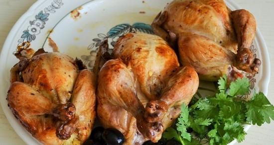 цыплята корнишоны в духовке с картошкой