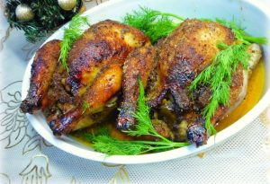Как приготовить цыплят корнишоны в духовке целиком