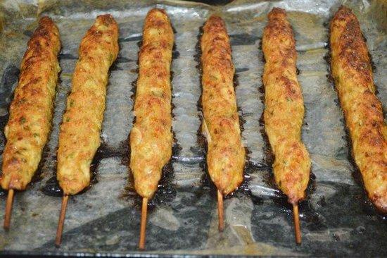 Рецепт люля-кебаба из курицы в духовке