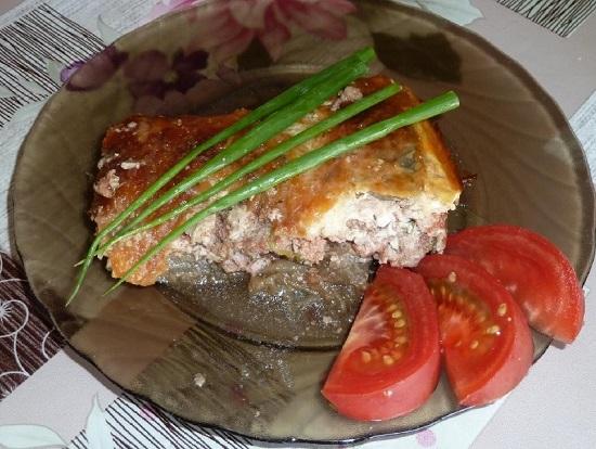 Рецепт баклажанов с мясом в духовке