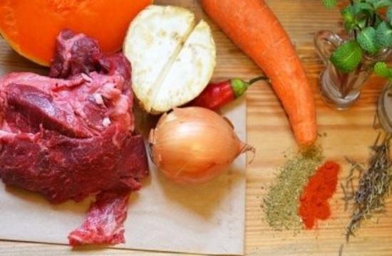 мясо плюс овощи