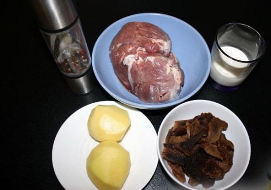 рецепт говядины в духовке в фольге с грибами и картофелем