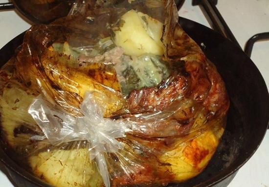 рецепт говядины с картошкой в духовке