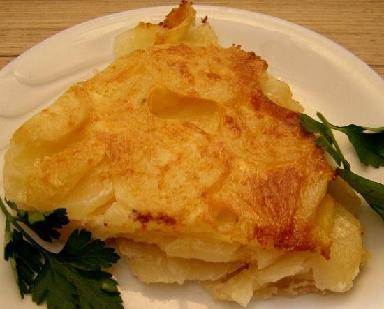 приготовить картофельную запеканку без мяса