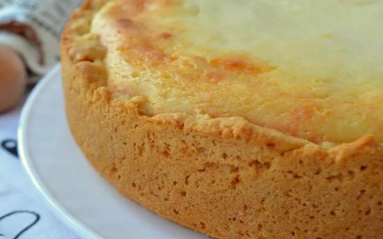 Бананово-творожный пирог в духовке рецепт