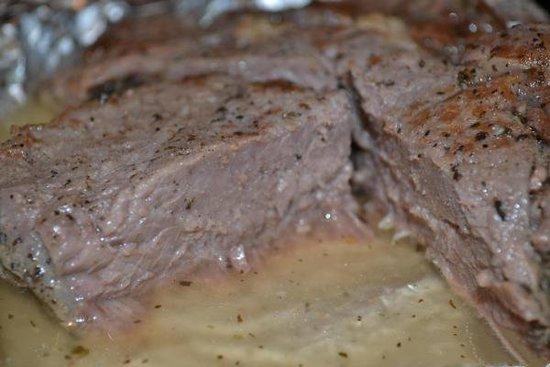 говяжий стейк в духовке в фольге