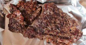 Шницель из мраморной говядины в духовке