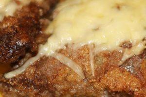 Запеченный говяжий ромштекс с сыром