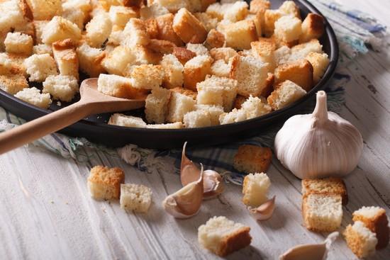 рецепту гренки для греческого салата
