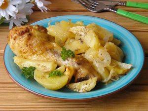 Окорочка с картошкой в фольге