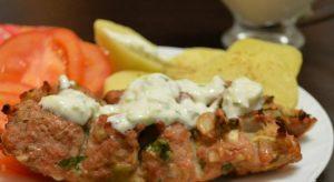 Люля-кебаб с мятным соусом