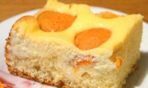 творожный бисквит с абрикосами