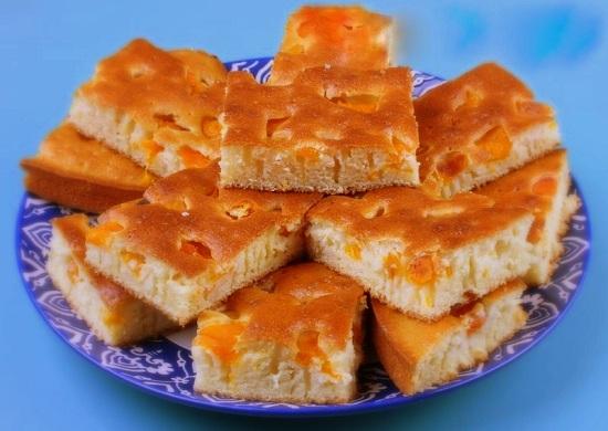 Бисквит с абрикосами в духовке: рецепты