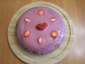 Рецепт бисквита с клубникой в духовке