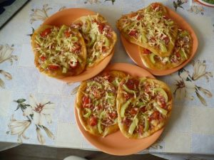 мини-пиццу из кабачков