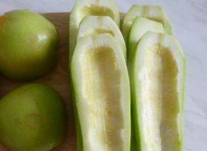 кабачок и яблоки