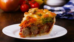 Пирог с фрикадельками в духовке: рецепт