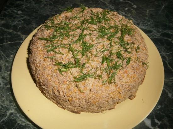 печеночная запеканка с рисом в духовке