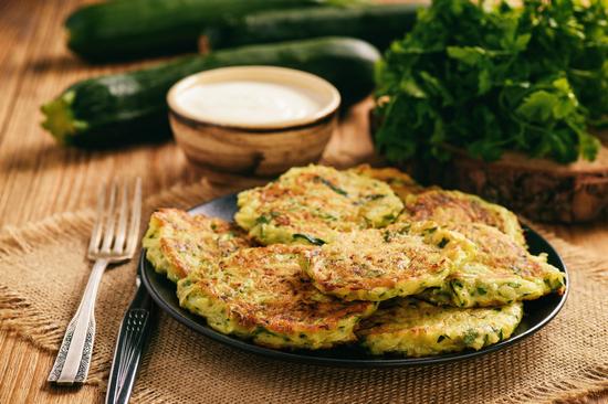 кабачковые оладьи в духовке: рецепт без муки