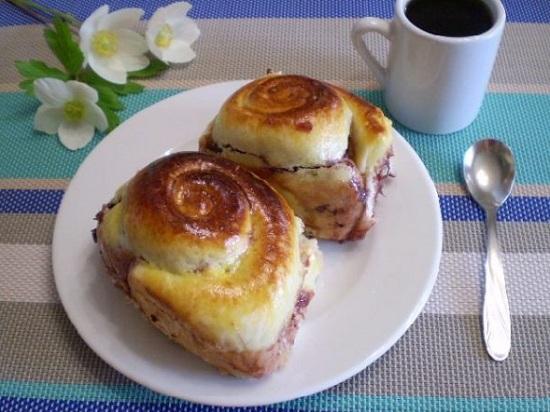 рецепт булочек пышных на дрожжах