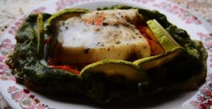 Зубатка с овощами в духовке: рецепт праздничный