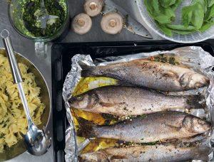 Сибас в духовке в фольге: рецепт приготовления