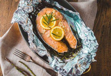 Стейк семги в духовке в фольге: рецепт