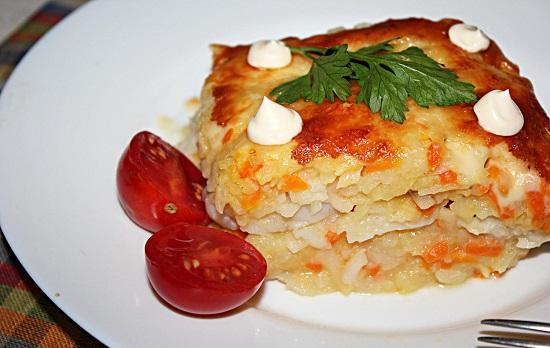 Тилапия с овощами в духовке: рецепт